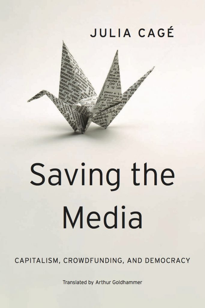 Saving the medias book cover