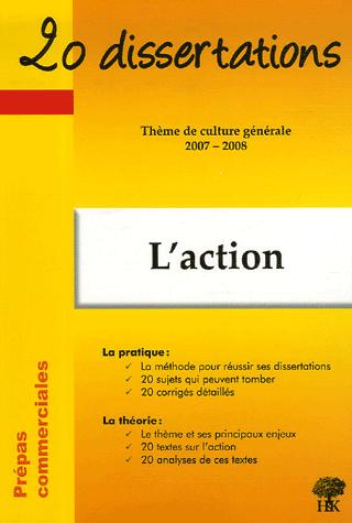 Couverture du livre L'action